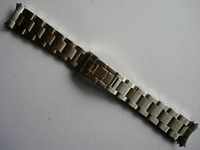 19MM BRUSHED STEEL FLIP-LOCK OYSTER BAND BRACELET FOR ROLEX OLD EXPLORER WATCH