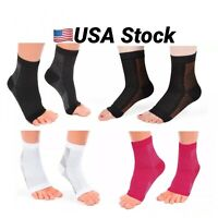 Compression Ankle Sleeve foot Support socks plantar pain relief valgus heel US