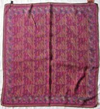 Autentico sciarpa MISSONI 100% seta vintage foulard 86 X 87 cm