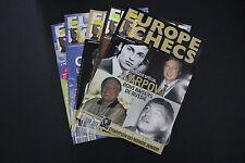 CHESS MAGAZINES Lot of 5 EUROPE ECHECS magazines Juillet - Decembre 09 Francais