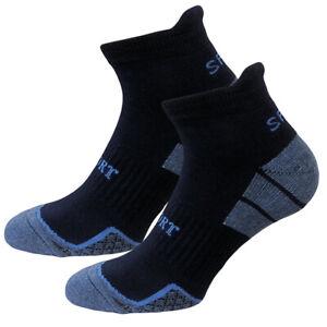 Laufsocken 4 Paar Kurzschaft Sport- Training- Socken Frotteepolsterung Hochferse