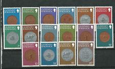 Gran Bretaña Guernsey Scott# 173/188 ** MNH set. Monedas