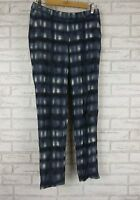 DAVID LAWRENCE Pants Sz 8 Blue, White, Check Print  Work, Office, Casual