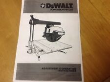 Buy dewalt industrial power radial arm saws ebay dewalt radial arm saw dw1201 manualbooklets2 manuals operating and spares greentooth Choice Image