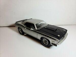 1971 Silver 'Cuda | 340 Six Barrel Engine | AA6PACK | Ertl 1:18 Diecast Model