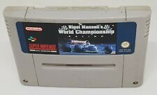 NIGEL MANSELL'S WORLD CHAMPIONSHIP RACING SUPER NINTENDO / SNES GAME
