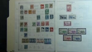 Algeria stamp collection on Scott Int'l pages to '89 w/ 340 or so stamps