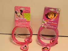 Disney Minnie Mouse and Dora Bracelets 8 bracelets and 4 charms *New*