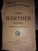 Goethe Werther Faust Hermann & Dorothée. Reproduction Autographe ,signé?