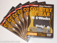 6 DVD SET LICK LIBRARY STEVE TROVATOS COUNTRY Guitar In 1 2 3 4 5 6 Weeks DVD