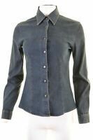 ARMANI JEANS Womens Denim Shirt IT 40 Small Blue Cotton  CZ05