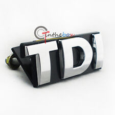 (1) Silver TDI Front Grill Grille Badge Emblem Sticker for Auto VW Golf MK5 MK6