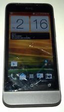HTC One V 4GB Gray Altel Android Smartphone Cracked Glass Bad WiFi