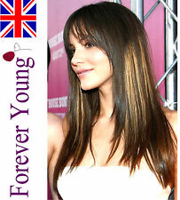 Wigs Ladies Long Brown Blonde Mix Full Wig Hair Forever Young Fashion Wigs