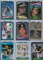Jose Canseco A's Lot of (20) Different w/ (14) Rookies 1986 Donruss #39 NMint