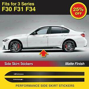 Für BMW F30 F31 F34 3er M Performance Seitenschweller Schweller Aufkleber MATT