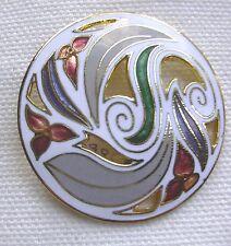 Art Nouveau Style Cloisonne Brooch /  Pin
