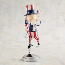 Pier 1 Imports 4th of July Patriotic Running Uncle Sam Figurine