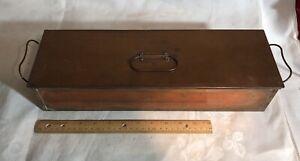 "Antique  ""Copper Medical Instrument Sterilization Box"" Orig Tray Medicine Drugs"