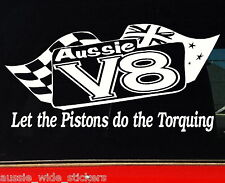 Ford Holden V8 Aussie BNS Ute accessories Funny Car Stickers 200mm