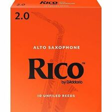 Rico by D'addario Alto Sax Reeds  BOX OF 10 Strength 2 RJA1020