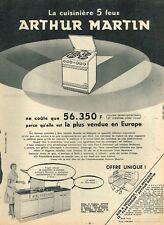 F- Publicité Advertising 1959 La Cuisinière 5 Feux Arthur Martin