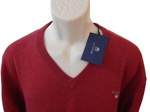 NEU Herrenmode Herren Gant Pullover ,rot, 70% Baumwolle, 30% Wolle, Gr.2XL