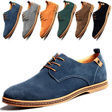 Mens Casual Shoes Suede Lace Up Low help Oxfords Leather Business Dress Formal