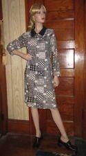 Authentic 60's Groovy Go Go Silky Twiggy Shirt Dress Wild Pattern Size 6?