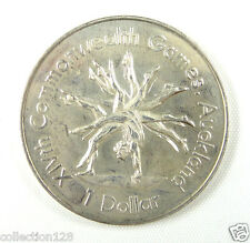 New listing New Zealand Dollar Almost Unc, 1989, Xiv Commonwealth Games, Gymnast