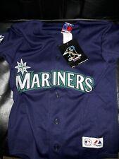 Feliz Hernandez Seattle Mariners shirt MLB baseball Majestic Navy Jersey Youth S