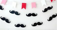 Moustache Paper Garland banner 2m- Baby Shower, Party