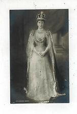 Mint RPPC Postcard Queen Mary in Robes Royalty England