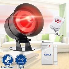 AS300 Wireless Home House Security Alarm System Strobe Siren Light Horn Detector