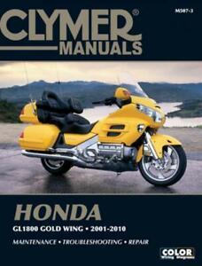 Honda GL1800 Gold Wing Motorcycle (2001-2010) Clymer Repair Manual