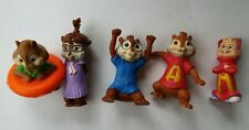 McDonald's Alvin and The Chipmunks Toy Figures Mcdonalds Set of 5