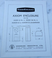 ancienne publicite Brochure goodmans aion enclosure