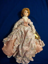Genevieve Exquisite porcelain doll, 20� Nib. Heirloom quality, Mann, w/ hat