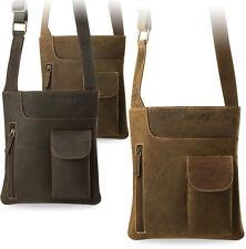 Messenger Bag Herrentasche Schultertasche 100% Naturleder Hunter leather