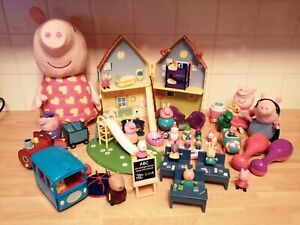 Peppa Pig Bundle House School Bus Train Playground Figures Classroom Plus More