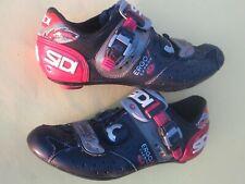 Sidi Ergo 1 Carbon Road shoes mens 41.5 Euro / US-8 black Lorica + mesh 3-bolt