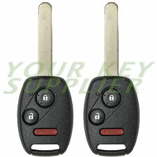 2 New Uncut Keyless 3 Button Remote Head Key Fob for Select Honda OUCG8D-380H-A