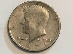 1971 D Kennedy Half Dollar error coin machine doubling Ribbon, Half Dollar