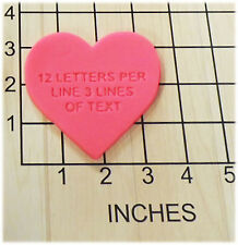 Personalized Heart Shape Fondant Cookie Cutter and Stamp #1131
