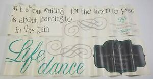 N) RoomMates Peel and Stick Wall Decals Dance in the Rain Quote