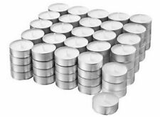 Tea Light Candles 50 Pack 6 hours burn White Unscented