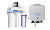 6 STAGE REVERSE OSMOSIS ALKALINE WATER FILTER SYSTEM + PERMEATE PUMP 100GPD USA