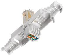 RJ45 UTP Tool-less Cat 5e Network/Ethernet Adaptor Simple Snap Shut, Toolless