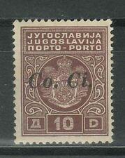 Italian Occupation Ljubljana 1941 10 Din ☀ Porto Key stamp ☀ MLH Signed