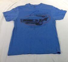 St1020 GM Men's Blue Camaro By Chevrolet T-Shirt Small